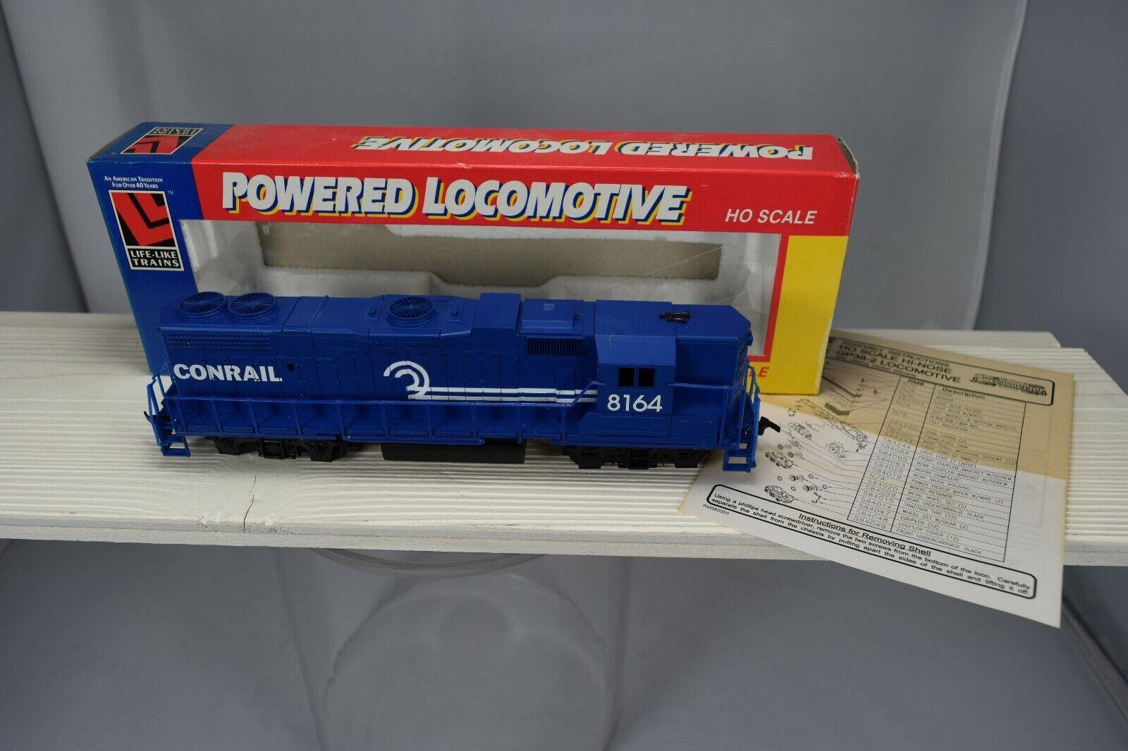 LIFE-LIKE HO locomotive diésel USA - EMD GP38-2 HI-NOSE CONRAIL + boite