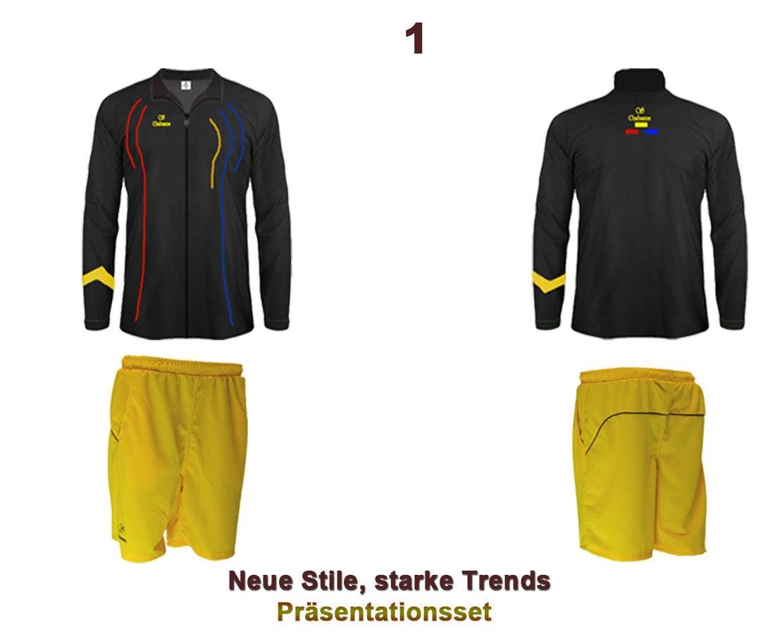 Präsentationsanzug Präsentationsanzug Präsentationsanzug Trainingsanzug Schwarz Gelb  (Sparset) Coolness 2.0 Chabaane 73bf8e