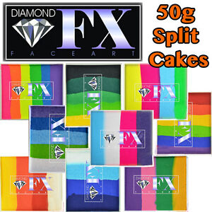 Diamond FX 50g Split / Blender Face Paint Cake