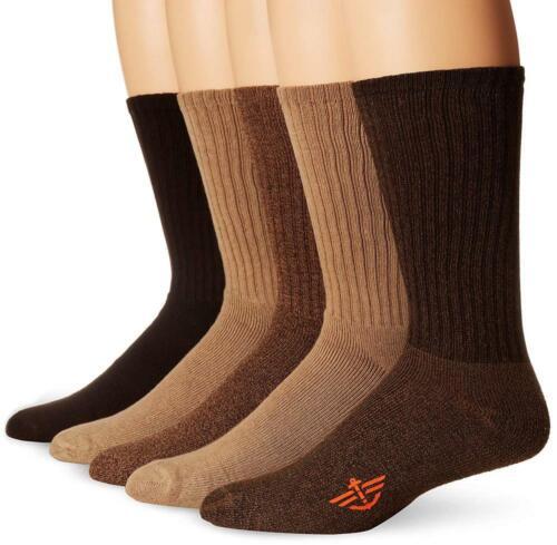 Dockers Men/'s 5 Pack Shoe Size: 6-12 Khaki Assorted Sock 10-13