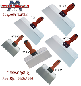 Marshalltown-Drywall-Jointing-Taping-Knife-3-034-Wide-Nylon-Durasoft-Handle-CHOOSE