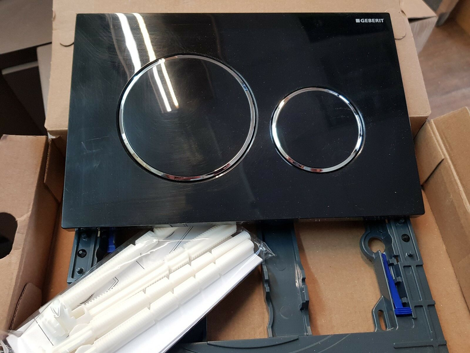 Geberit Sigma plaque 20 DUAL encastré plaque Sigma pour Sigma citernes Noir Brillant Chrome Noir 813d0a