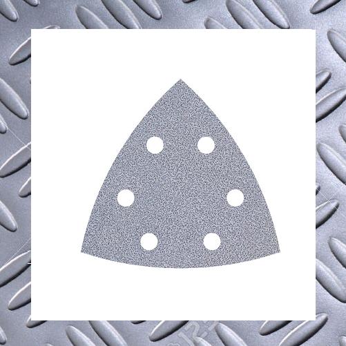 Wolfcraft Schleifblätter Delta 95mm Lack/Farbe,Körnung 40,gelocht,Pack: 5 Stück