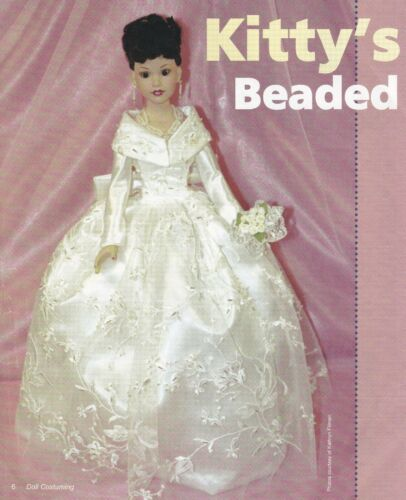 """BEADED EVENING OR WEDDING GOWN PATTERN FOR 18/"""" KITTY COLLIER"""