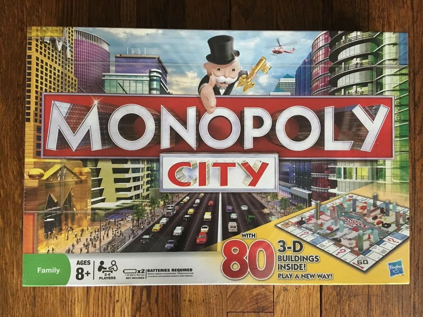 Monopoly City 3-D Buildings Electronic Trading New Sealed Family Board Game