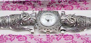 Turkish-Handmade-925-Sterling-Silver-Marcasite-Ladies-Wristwatches
