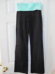 Nwt Yoga reg menta con Rosa argento strass Logo Secret Xs Victoria's Boot Pant Cut rq8HCr