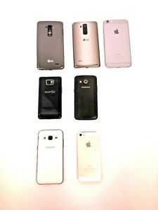 Mixed-Lot-of-7-Cell-Phone-Smartphones-Apple-Samsung-LG-Locked-PARTS-ONLY-5310