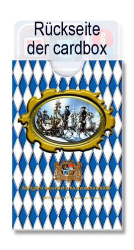 von Bayern Bavaria Souvenir king Louis 2 Neuschwanstein cardbox KÖNIG LUDWIG II