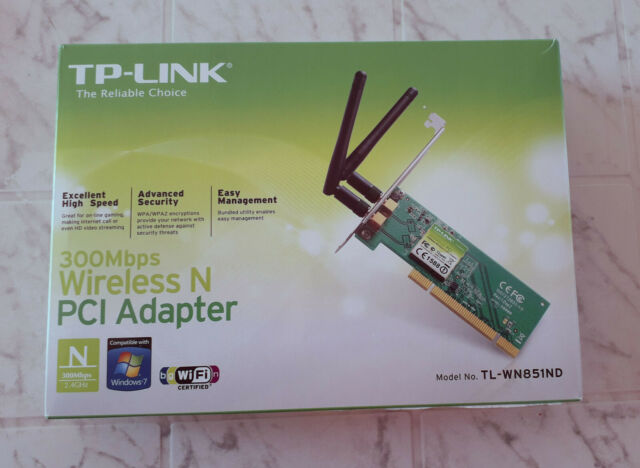 TP-LINK TL-WN851ND Adaptateur Carte réseau Wifi wi-fi PCI  NEUF