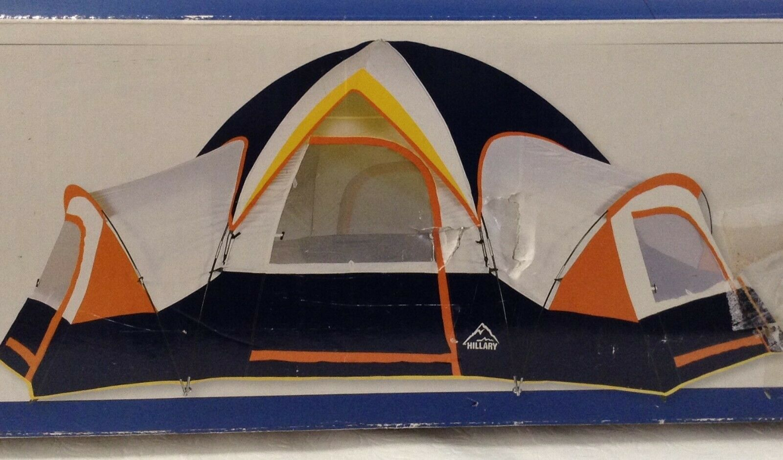Hillary Hex Dome Camping Tent w  Two Lockers Sleeps 3-4 UNUSED 12.5'x7.5' Ht 52