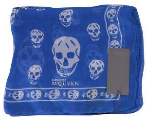 New Alexander McQueen $365 110640 Dark Blue Pink SKULL
