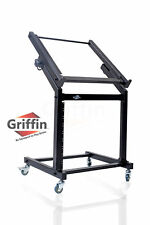 Rolling Rack Mount Stand ? Music Studio Equipment Mixer Cart Gear Holder Effects