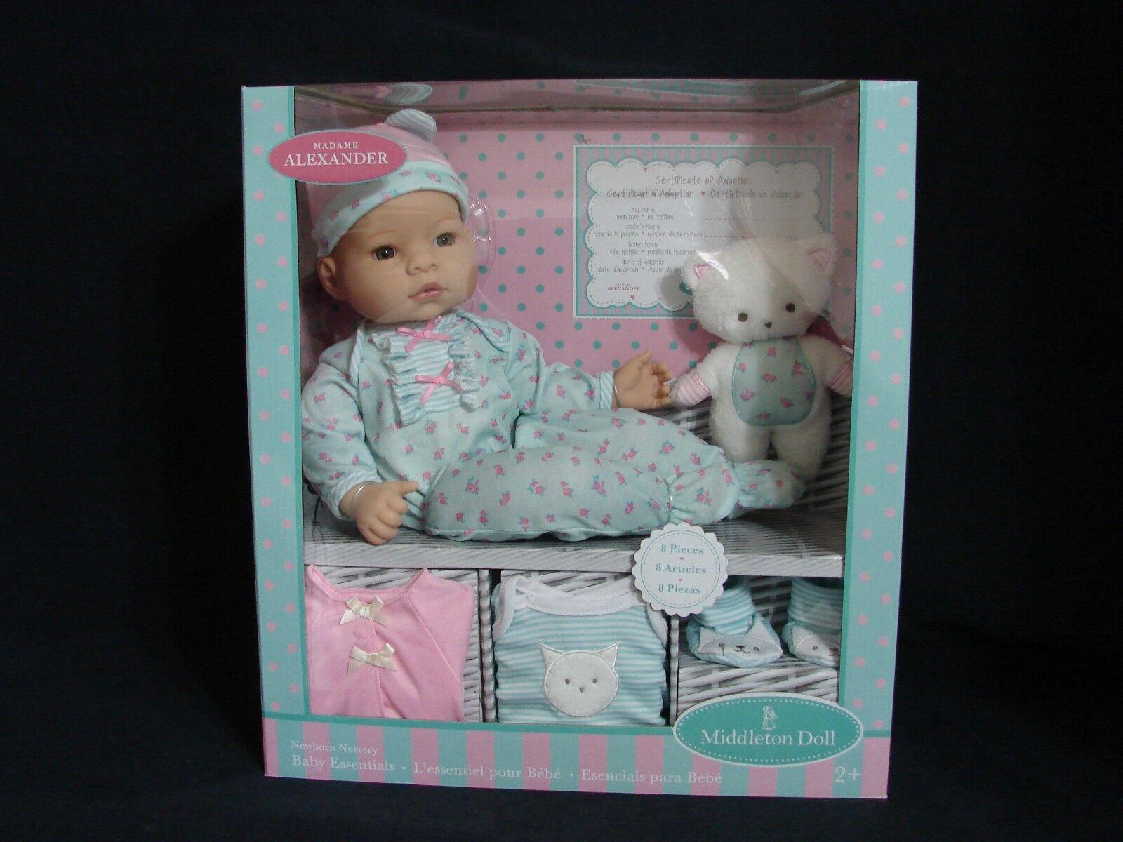 Madame Alexander Recién nacido Conjunto de vivero Lee Middleton Recién nacidos bebé Muñeca 16  Nuevo azul
