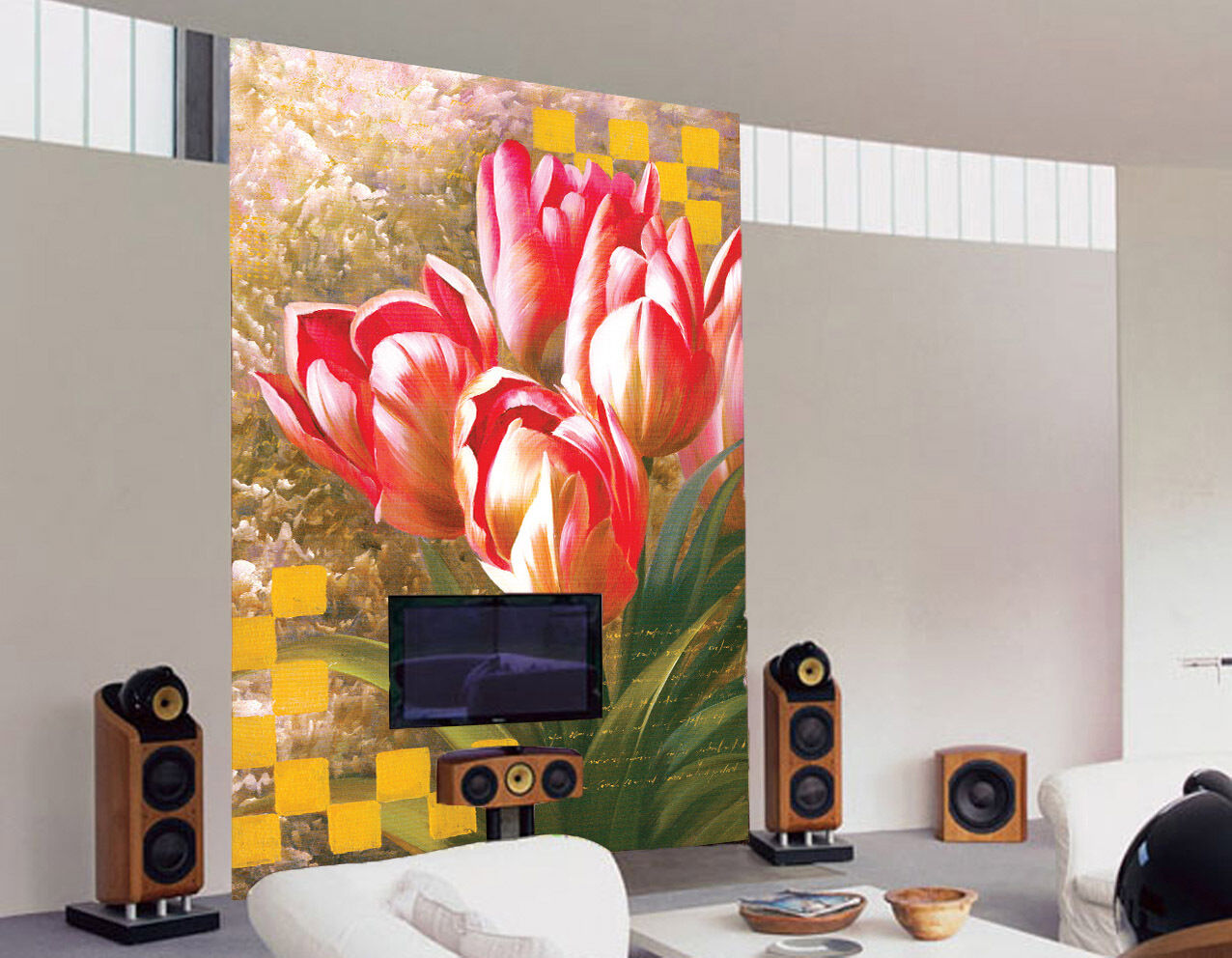3D rot Flowers Painted 262 Paper Wall Print Wall Decal Wall Deco Indoor Murals