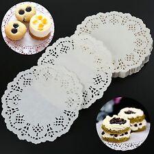 "5.5"" Lace Paper Doilies Napkin Hollow Mats Party Decor Cake Baking Accessories"