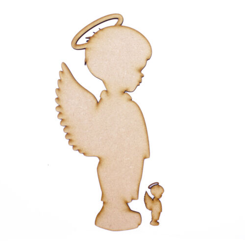 Angelic Boy 3mm MDF Wooden Laser Cut Shapes Various Sizes