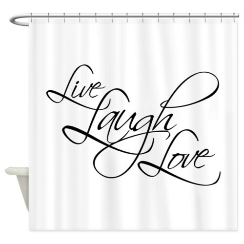 CafePress Live 835124724 Laugh Love Shower Curtain