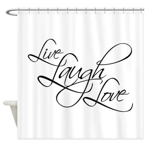 CafePress Live 835124724 Laugh Love Shower Curtain
