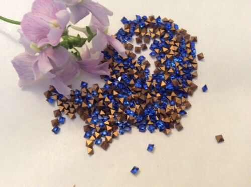 Vintage Swarovski Partieware square 2.3mm  Pack of 12 Foiled  REPAIR CRAFT