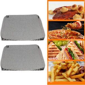 2Stk-Dauer-BBQ-Grillmatte-Unterlage-Backmatte-amp-Antihaft-Bratfolie-Glasfaser