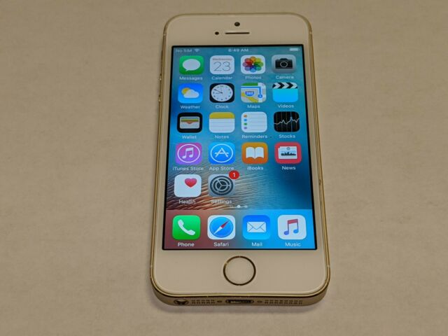Apple iPhone 5s A1533 16GB AT&T Wireless White/Gold Smartphone/Cell Phone