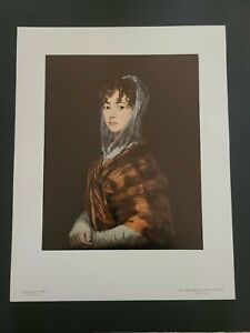 "GOYA National Gallery Of Art Print: ""Senora Sabasa Garcia"" Un-Framed   11 x 14"