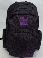 Womens Girls Billabong Backpack School Book Bag Leopard Black Grey Purple