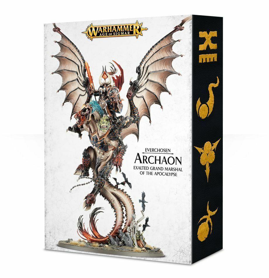 apresurado a ver Archaon everchosen Warhammer edad de Sigmar Nuevo En Caja Caja Caja  connotación de lujo discreta