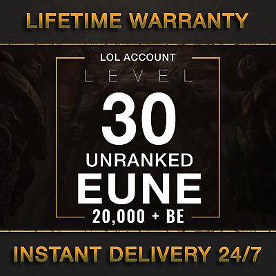 League of Legends Account LOL | EUNE | Level 30 | 20.000+ IP | 20k+ Unranked