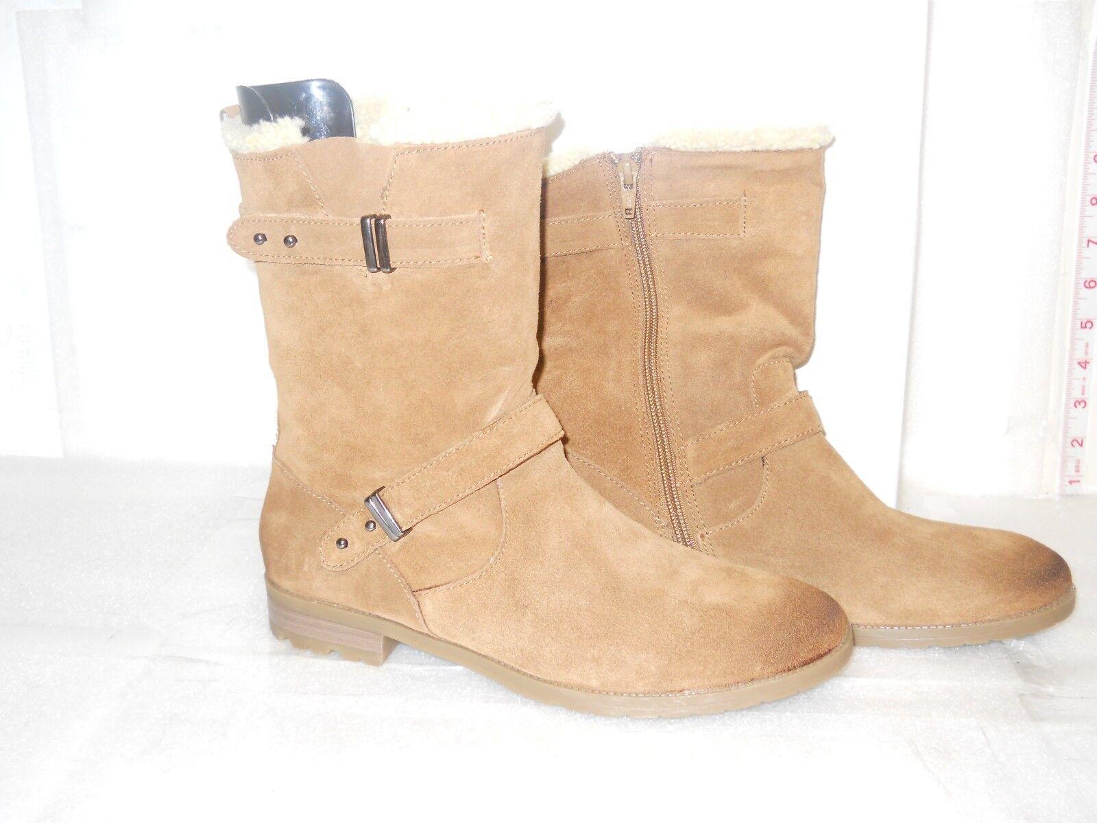 Alfani NEU Damenschuhe Sascha Braun Twig Suede Leder Stiefel 9 M Schuhes NWB