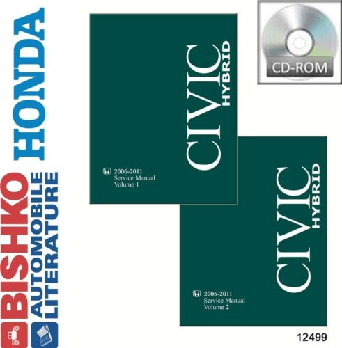 2006 2008 2011 Honda Civic Hybrid Shop Service Repair Manual CD OEM