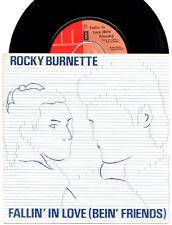 """Rocky Burnette Fallin' In Love (Bein' Friends) 1980 UK EMI 5060 7"""" vinyl single"""