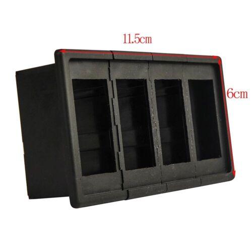 MICTUNING 4PCS Rocker Switch Holder Panel Housing Kit Fireproof ABS Plastic