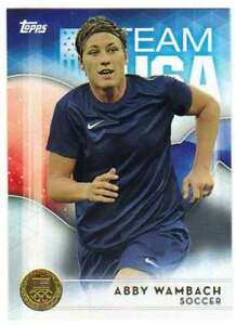 2016-Topps-US-Olympic-Team-USA-Gold-40-Abby-Wambach-Soccer