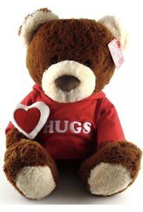 Gund-Hugs-Bear-Valentine-039-s-Day-18-inch-Red-Hoodie-New-w-Original-Hang-Tag-Love