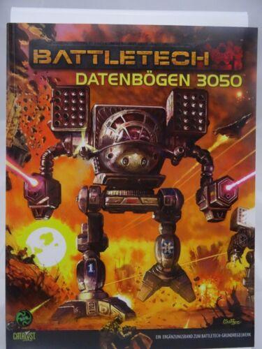 """Battletech /""""Datenbögen 3050/"""" 503001005 Ulisses, Catalyst, Topps"""
