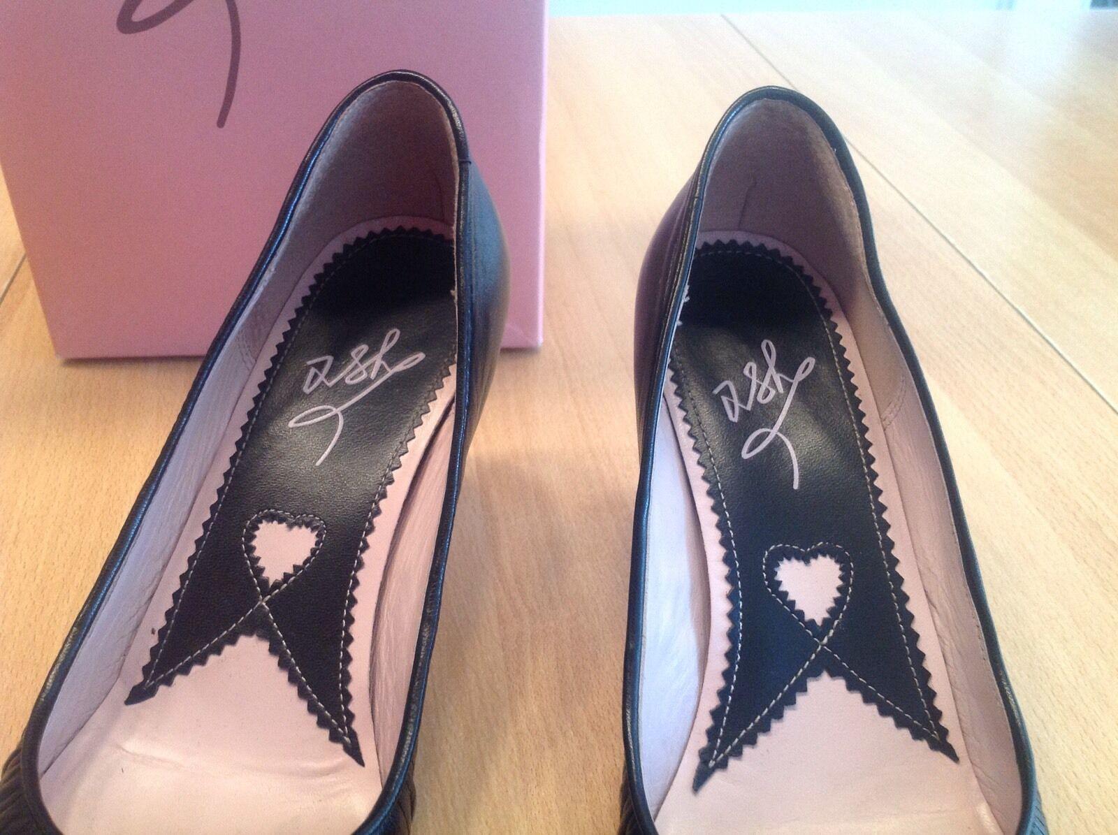 ASH PUMPS Schuhe Elegant Echtleder Business Schuhe PUMPS Schwarz  Gr. 38  w.Neu 4ceff0