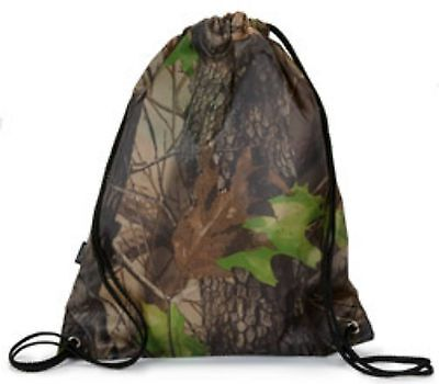 Camo String Drawstring Bag Cinch Sack Backpack Gym Tote Locker Shoe Bag