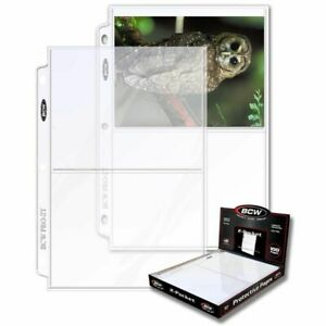 (100) BCW 2-Pocket Photo Pages Size - 5 7/16 x 7 1/8