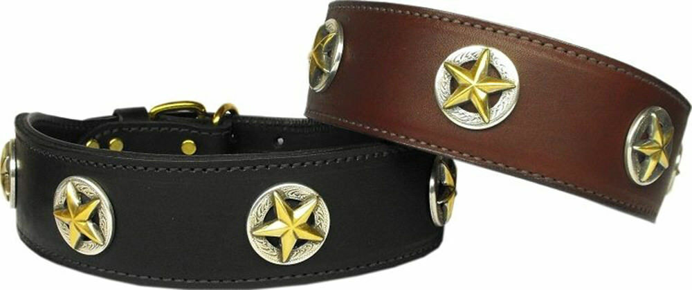 Mirage Lone Star Genuine Leather Collar