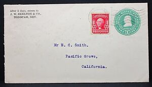 US-Cover-Postal-Stationery-1c-Tonopah-Pacific-Grove-Rnd-Letter-Lot-5928