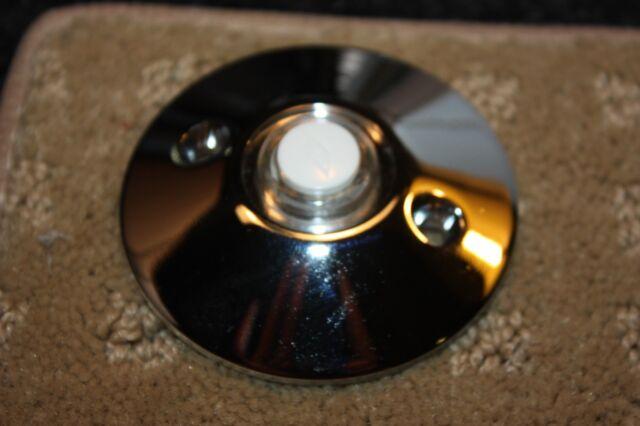 Chrome doorbell button decorator Baldwin Emtek Nutone doorbell chime