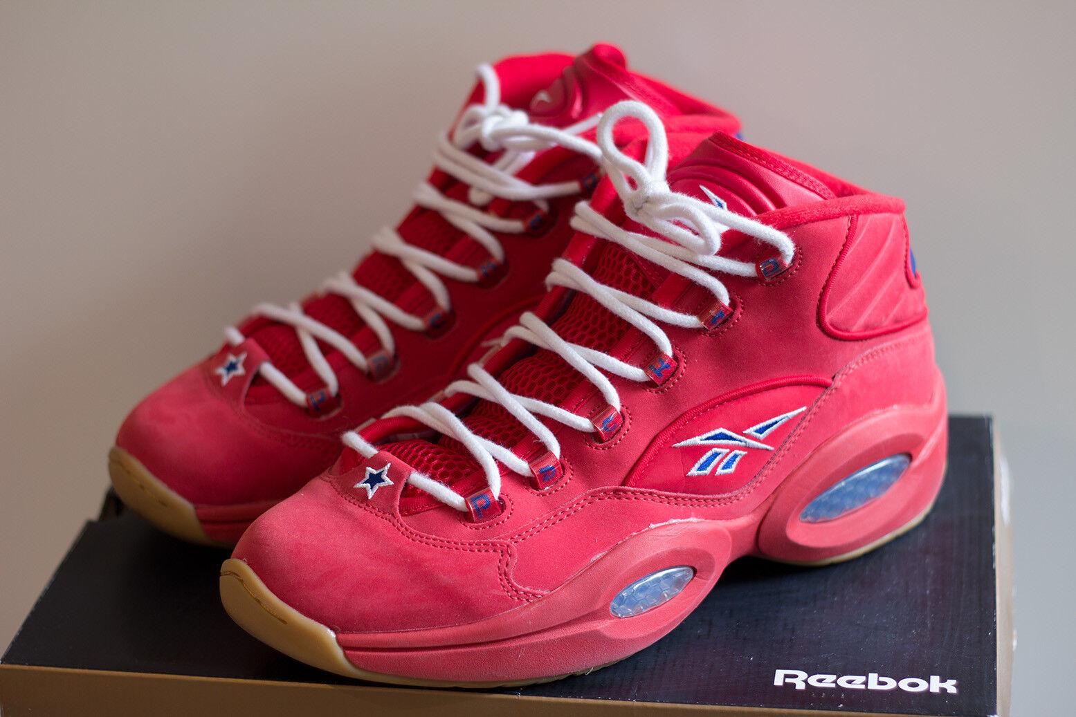 Reebok Question Packer scarpe kamikaze rosso Suede GUM Iverson senza PUMP