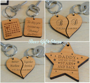 Personalised Wooden Keyrings Unusual Gift Ideas For Him Her Romantic Birthday Ebay,Kitchen Island Table Design Ideas