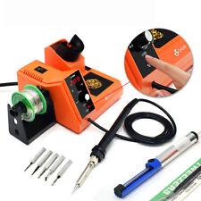 80w Rework Soldering Station Iron Kit Auto Sleep C F Solder Repair Tool Esd