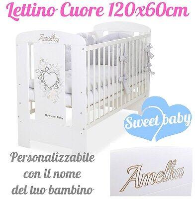 Able Lettino Cuore Personalizzabile Con Incisione Del Nome Del Tuo Bambino Crease-Resistance Nanna