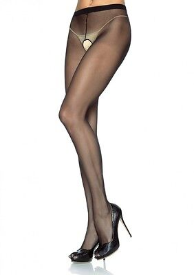 Sexy Sheer Crotchless Pantyhose Small, Medium and Large