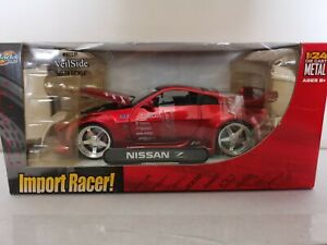 NEW-SEALED-Jada-Toys-Nissan-Z-350z-Import-Racer-1-24-Die-Cast-RED-NIB-VHTF