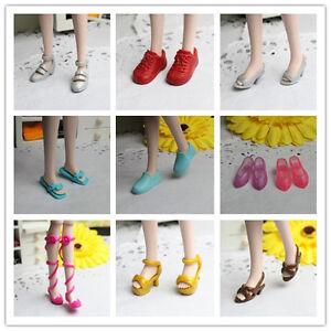 Handmade-High-quality-mix-Original-10-pairs-shoes-for-barbie-doll-z116